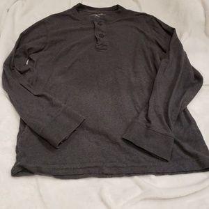 Dark Heather Gray Men's Eddie Bauer Henley Shirt